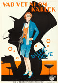 "Movie Posters:Drama, Sensation Seekers (Big-U, 1927). Swedish One Sheet (28"" X 39.5"")....."