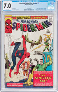 Silver Age (1956-1969):Superhero, The Amazing Spider-Man Annual #1 (Marvel, 1964) CGC FN/VF 7.0 Whitepages....