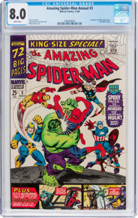 The Amazing Spider-Man Annual #3 (Marvel, 1966) CGC VF 8.0 White pages