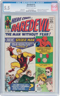 Silver Age (1956-1969):Superhero, Daredevil #1 (Marvel, 1964) CGC FN- 5.5 Off-white to whitepages....