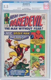 Daredevil #1 (Marvel, 1964) CGC FN- 5.5 Off-white to white pages