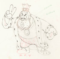 Brave Little Tailor The King Animation Drawing (Walt Disney, 1938)