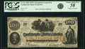 Confederate Notes:1862 Issues, Confederate States of America - CT41 $100 1862 CT41/316. PCGSChoice About New 58 Apparent.. ...