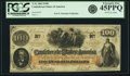Confederate Notes:1862 Issues, Confederate States of America - T41 $100 1862 PF-22, Cr. 320A. PCGSExtremely Fine 45PPQ.. ...