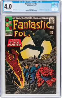 Fantastic Four #52 (Marvel, 1966) CGC VG 4.0 Off-white to white pages