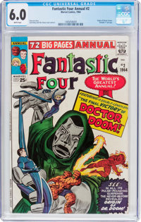 Fantastic Four Annual #2 (Marvel, 1964) CGC FN 6.0 White pages
