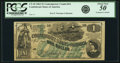Confederate Notes:1862 Issues, Confederate States of America - CT45 $1 1862 CT45/342. PCGS AboutNew 50 Apparent.. ...