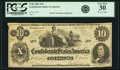 Confederate Notes:1862 Issues, Confederate States of America - T46 $10 1862 PF-1, Cr. 344. PCGSVery Fine 30.. ...