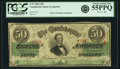 Confederate Notes:1863 Issues, Confederate States of America - T57 $50 1863 PF-3, Cr. 408. PCGSChoice About New 55PPQ.. ...