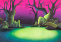 Animation Art:Painted cel background, Beetlejuice Master Backgrounds, Group of 2 (Nelvana, c.1980s).... (Total: 2 )