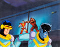 Animation Art:Production Cel, X-Men Cyclops Production Cel and Master Background (Marvel,c. 1990s)....