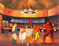 Animation Art:Production Cel, X-Men Villains Production Cel Setup and Master ProductionBackground (Marvel, c. 1990s)....