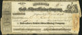 Miscellaneous:Other, Belvedere Gold and Mining Company Stock Certificate 5 Shares March16, 1864.. ...