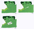 Animation Art:Production Cel, The Incredible Hulk Hulk Production Cel and AnimationDrawing Sequence of 3 (Marvel Films, 1995).. ... (Total: 5 )