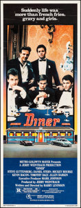 """Movie Posters:Comedy, Diner (MGM, 1982). Insert (14"""" X 36""""). Comedy.. ..."""