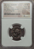 Ancients:Greek, Ancients: LUCANIA. Thurium. Ca. 350-300 BC. AR stater (7.88 gm).NGC Choice XF 4/5 - 4/5....