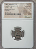 Ancients:Roman Provincial , Ancients: SYRIA. Uncertain mint. Ca. 3rd century AD. AE 15 mm (2.70gm). NGC VF 4/5 - 4/5....