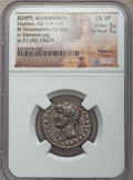 Ancients:Roman Provincial , Ancients: EGYPT. Alexandria. Hadrian (AD 117-138). BI tetradrachm(12.58 gm). NGC Choice VF 5/5 - 5/5....