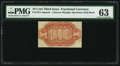 Fractional Currency:Third Issue, Fr. 1251-SP 10¢ Narrow Margin Red Back PMG Choice Uncirculated 63.. ...