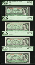 Canadian Currency: , BC-45b-i $1 1967, Three Examples. BC-45bA-i $1 1967 Replacement.... (Total: 4 notes)