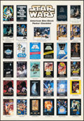 "Movie Posters:Science Fiction, Star Wars American Checklist (Zigzag, 2000s). One Sheet (27.5"" X39.5""). Science Fiction.. ..."