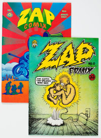 Zap Comix #0 and 4 Second Printing Group (Apex Novelties, 1969) Condition: Average VF.... (Total: 2 Comic Books)