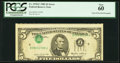 Error Notes:Inverted Third Printings, Inverted Third Printing Error Fr. 1978-F $5 1985 Federal ReserveNote. PCGS New 60.. ...