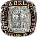 Football Collectibles:Others, 1984-85 Bill Walsh San Francisco 49ers Super Bowl XIX Salesman's Sample Ring with Box. ...