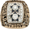 Football Collectibles:Others, 1977 Dallas Cowboys Super Bowl XII Championship Ring....