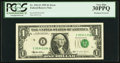 Error Notes:Shifted Third Printing, Shifted Third Printing Error Fr. 1921-E $1 1995 Federal Reserve Note. PCGS Very Fine 30PPQ.. ...