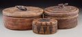 American Indian Art:Baskets, Three Southeast Asian Woven Wicker Baskets, circa 1930 and later. 6h x 11 w x 9-1/2 d inches (15.2 x 27.9 x 24.1 cm) (large... (Total:3 Items)