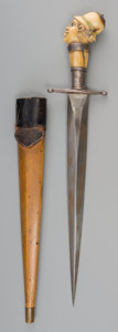 Decorative Arts, British:Other , An African Colonial Knife and Scabbard, 20th century. 14-3/4 incheslong (37.5 cm). ...