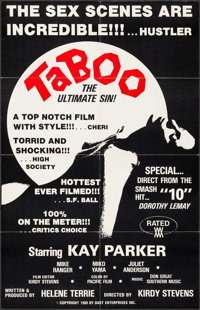 """Taboo: The Ultimate Sin & Others Lot (Dart Enterprises, 1980). One Sheets (3) (27"""" X 41""""). Adult. ... (Tot..."""