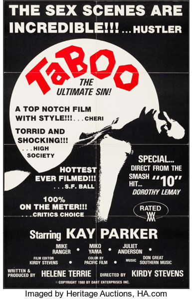 Movie Postersadult Taboo The Ultimate Sin Others Lot Dart