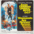 "Movie Posters:James Bond, Diamonds are Forever (United Artists, 1971). Six Sheet (76.5"" X 79""). James Bond.. ..."
