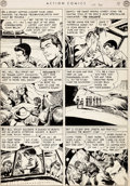 Original Comic Art:Panel Pages, Dan Barry Action Comics #150 Story Page 2 Original Art (DC,1950)....
