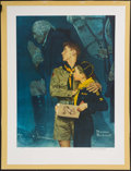 """Miscellaneous Collectibles:General, Norman Rockwell Signed """"Our Heritage"""" Lithograph...."""