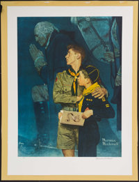"""Norman Rockwell Signed """"Our Heritage"""" Lithograph"""
