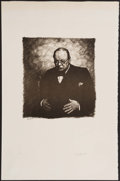 Miscellaneous Collectibles:General, Curtis Hooper Lithograph Signed by Sarah Churchill....