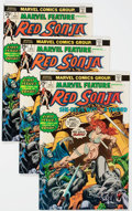 Bronze Age (1970-1979):Adventure, Marvel Feature #1 Red Sonja - Group of 9 (Marvel, 1975) Condition: Average VF+.... (Total: 9 Comic Books)