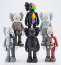Fine Art - Sculpture, American:Contemporary (1950 to present), KAWS (b. 1974). Companion (Open Edition), (set of six),2016. Painted cast vinyl. 11 x 4-1/2 inches (27.9 x 11.4 cm) (ea...(Total: 6 Items)