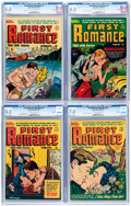 Golden Age (1938-1955):Romance, First Romance CGC-Graded File Copy Group of 4 (Harvey, 1951-52)....(Total: 4 Comic Books)