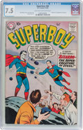 Silver Age (1956-1969):Superhero, Superboy #68 (DC, 1958) CGC VF- 7.5 Light tan to off-whitepages....