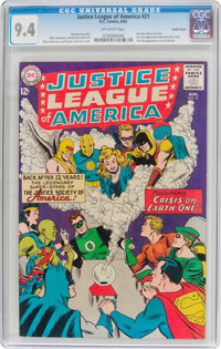 Justice League of America #21 Pacific Coast Pedigree (DC, 1963) CGC NM 9.4 Off-white pages