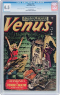 Golden Age (1938-1955):Horror, Venus #17 (Timely, 1951) CGC VG+ 4.5 Cream to off-white pages....