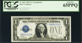 Small Size:Silver Certificates, Fr. 1601 $1 1928A Silver Certificate. Y-B Experimental. PCGS Gem New 65PPQ.. ...