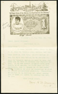 "Miscellaneous:Other, ""The Centenary"" of Florence, SC Feb. 26, (18)92 Letter with $1Silver Certificate Martha Look-Alike Note Letterhead.. ..."