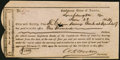 Confederate Notes:Group Lots, Interim Depository Receipt Lynchburg, VA- $1000 June 28, 1864Tremmell VA-96.. ...