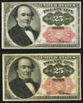 Fractional Currency:Fifth Issue, Fr. 1308 25¢ Fifth Issue Extremely Fine-About New;. Fr. 1309 25¢Fifth Issue New.. ... (Total: 2 notes)