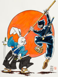 Stan Sakai Usagi Yojimbo Illustration Original Art (1987)